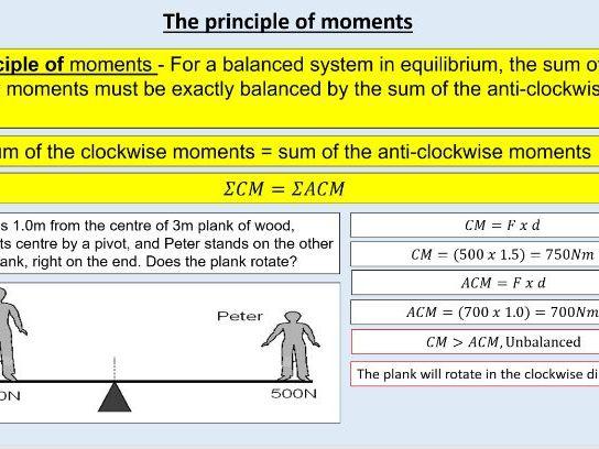 GCSE Physics (4.5.4) Forces - The principle of moments (AQA)