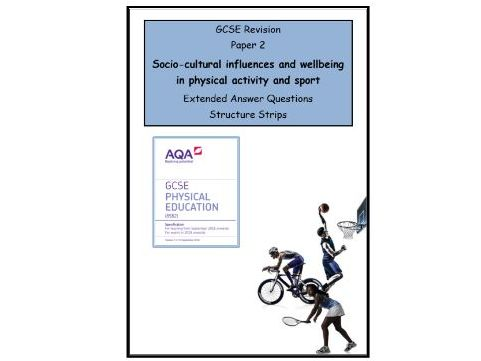 GCSE PE - AQA (9-1) - Complete Paper 2 - 34 X Structure Strips (Extended Questions)