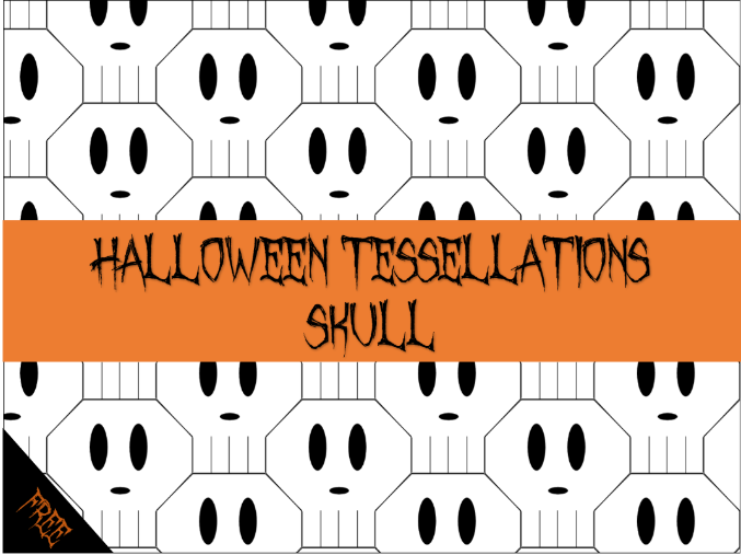 Halloween Maths - skull tessellation activity