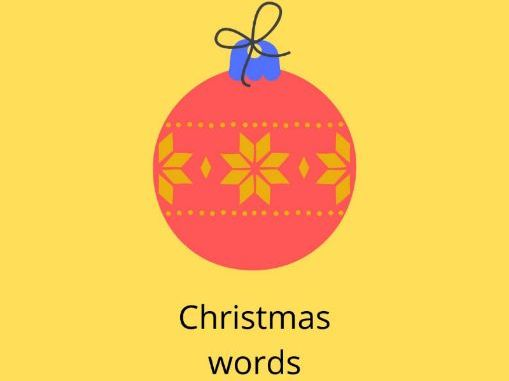 Identify the Christmas picture-worksheet