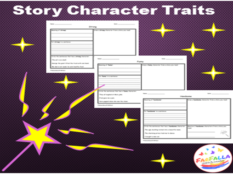 Story Character Traits -WORD MAP-