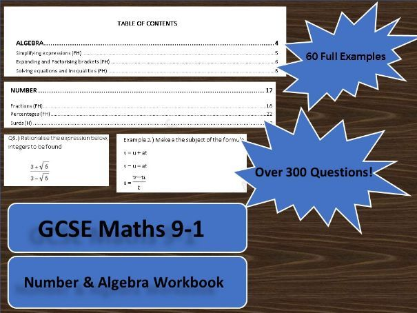 GCSE Maths 9-1 Algebra & Number Workbook
