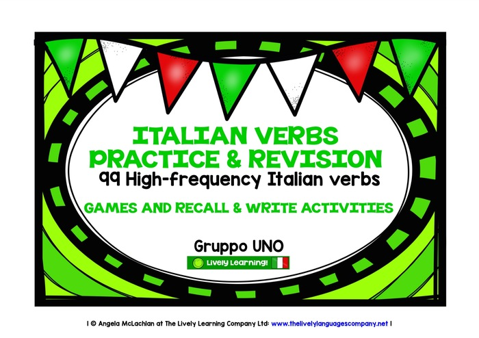 ITALIAN VERBS (1) - 99 VERBS - GAMES & ACTIVITIES
