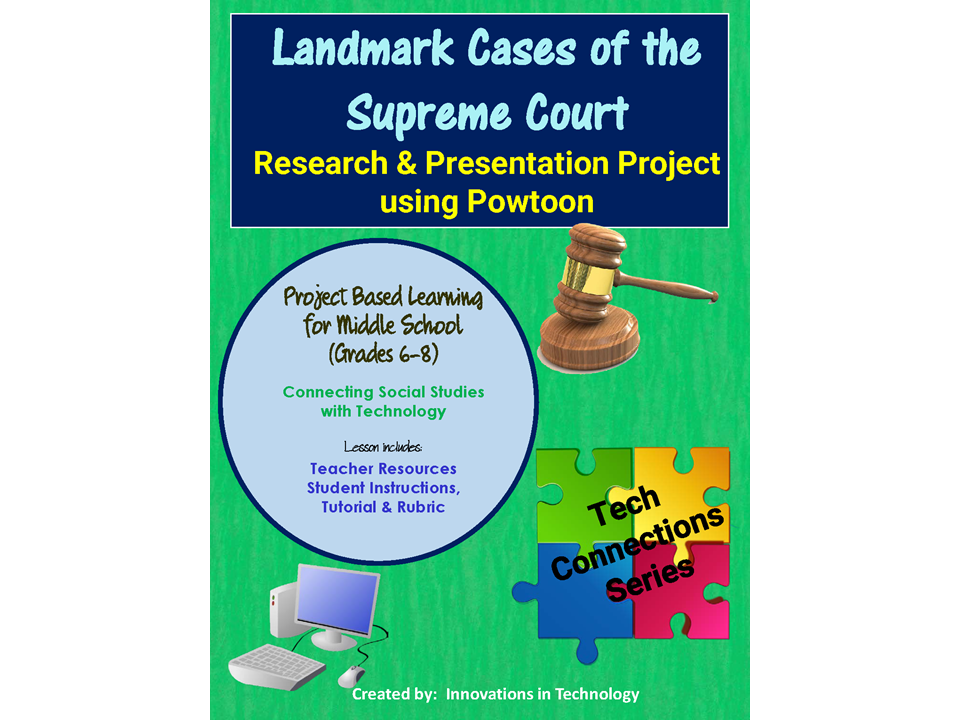 Landmark Cases of the Supreme Court  - Research & Presentation Project in Powtoon