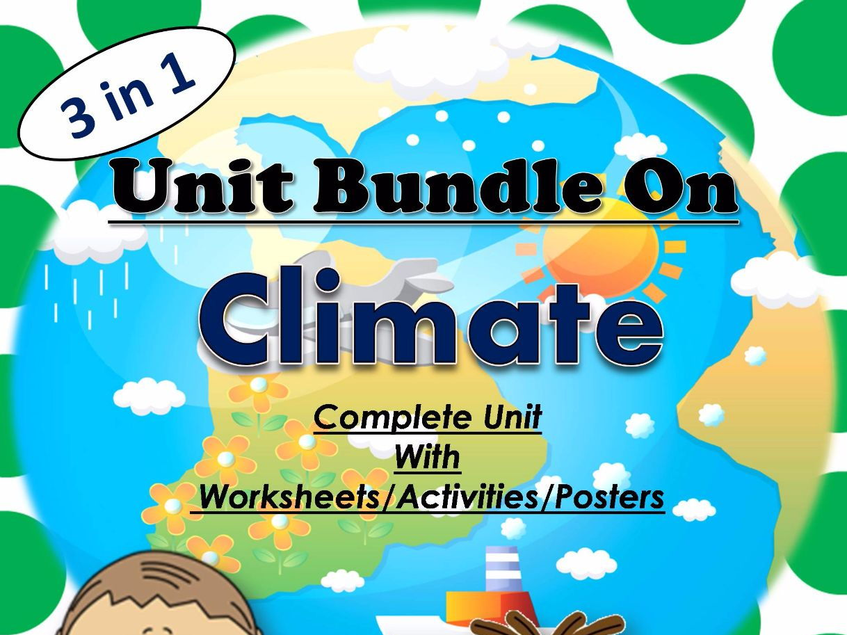 Bundle on Climate unit - Lesson/Worksheets/Activity/Posters8.99