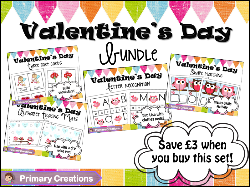 Valentine's Day Preschool and PreK (EYFS) Bundle
