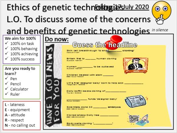 AQA B14.7 Ethics of genetic engineering