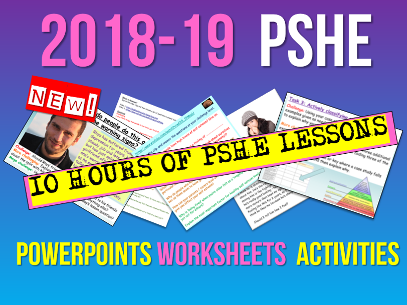 PSHE: New PSHE 2018-19 Part 2