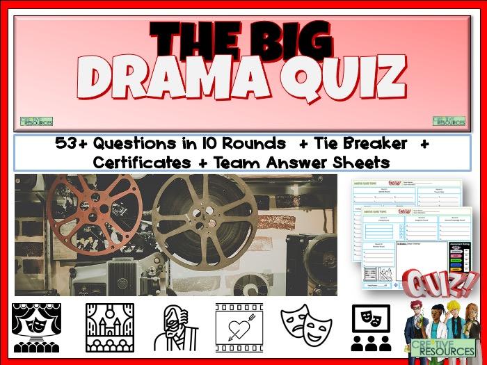 End of Term Drama Quiz