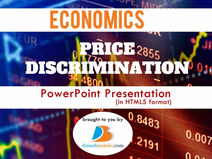 Price Discrimination- Presentation (IGCSE/ A Levels/IB Economics