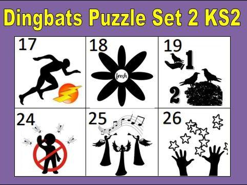 Dingbats Puzzle Set 2 KS2