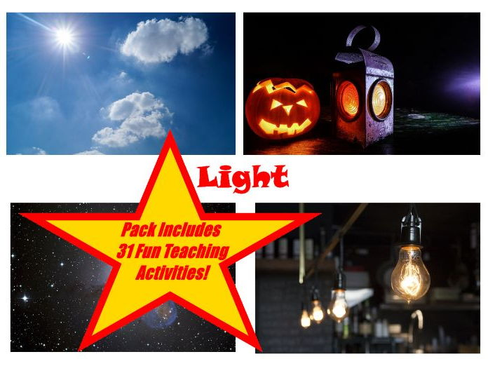 30 Sources Of Light Photos PowerPoint Presentation + 31 Teaching Activities Teacher Guide