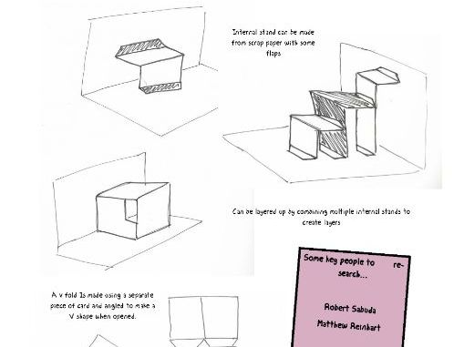 Pop-Up Book Project Booklet