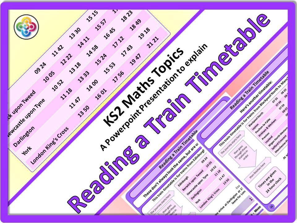 Reading a Train Timetable KS2