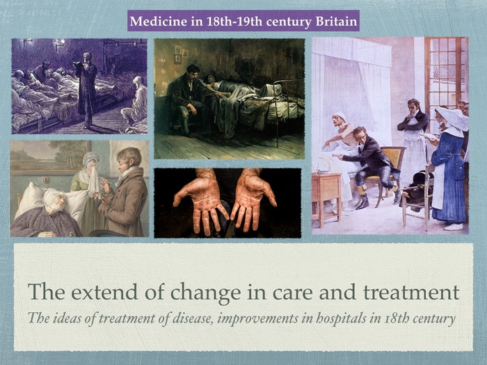 GCSE History of Medicine. 18th 19th Century. Change in care and improvement in hospitals 1900s