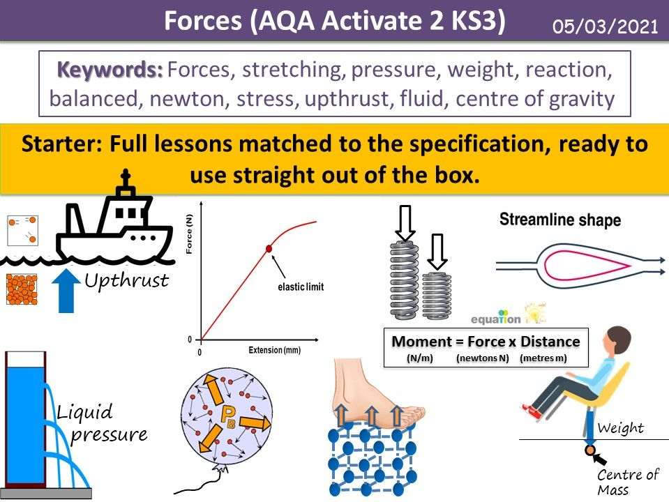 Forces (AQA Activate 2 KS3)