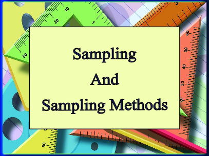 Sampling and Sampling Methods - Notes for teachers and students with Questions