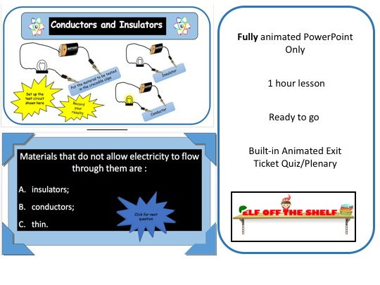 Electricity -Conductors and Insulators KS3 - Animated PowerPoint