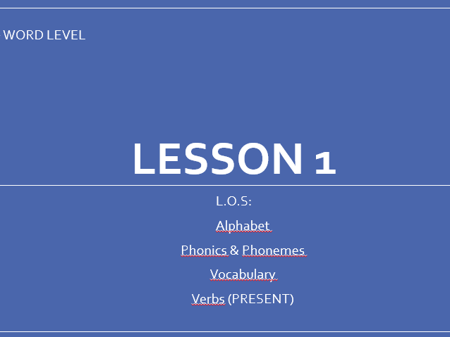 English Basics: The First Lesson
