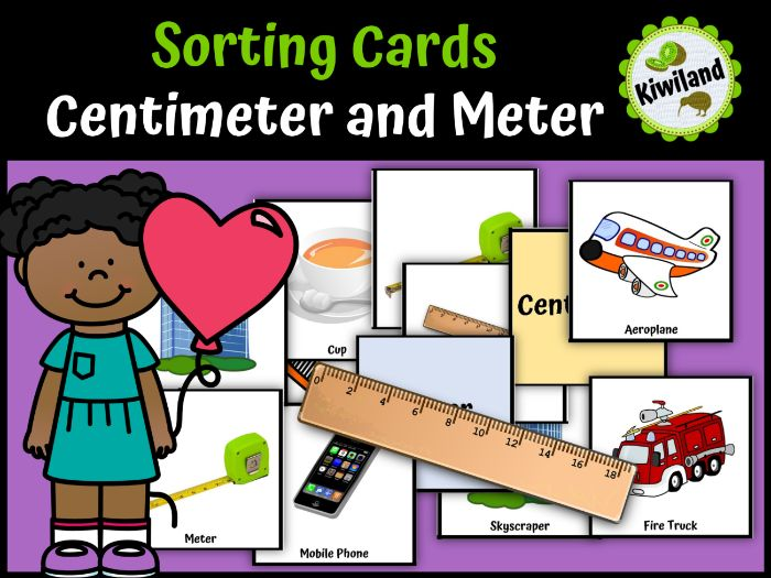 Centimeter and Meter Sorting Cards