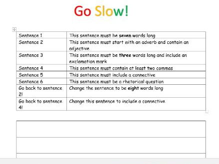 Slow writing ks2