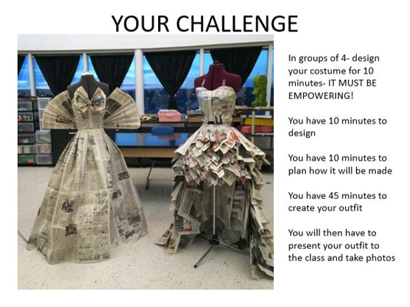 Paper Dresses- Textiles