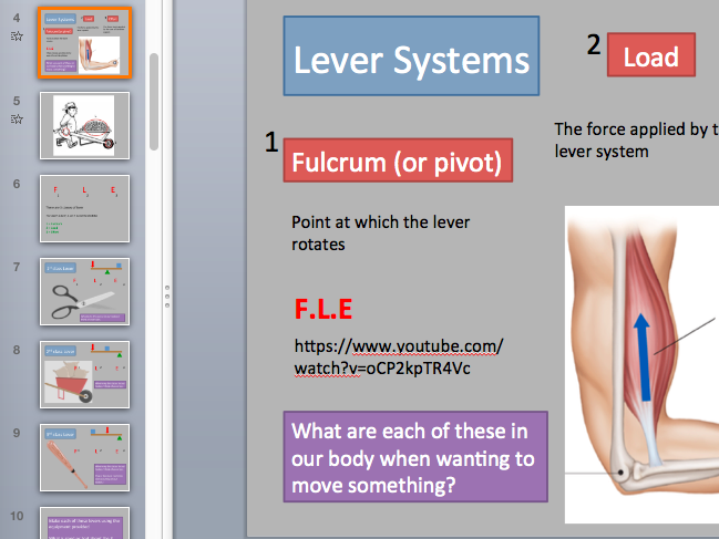 Movement analysis - Lever systems and planes and axes. Edexcel new spec 9-1.