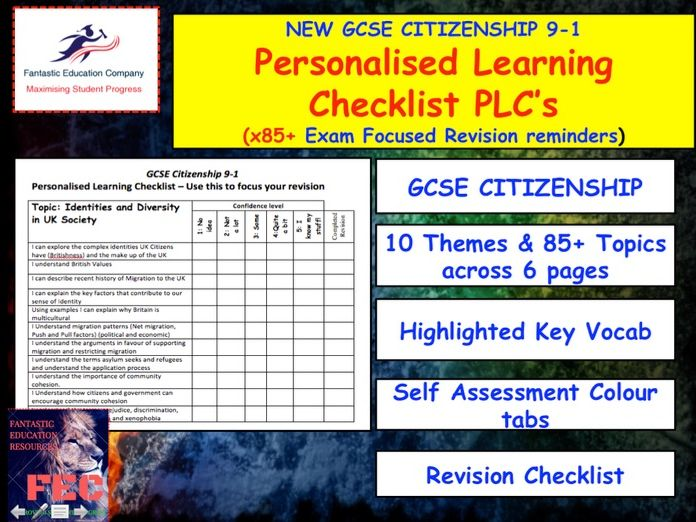 Citizenship GCSE 9-1 PLC tracker - Revision tracker