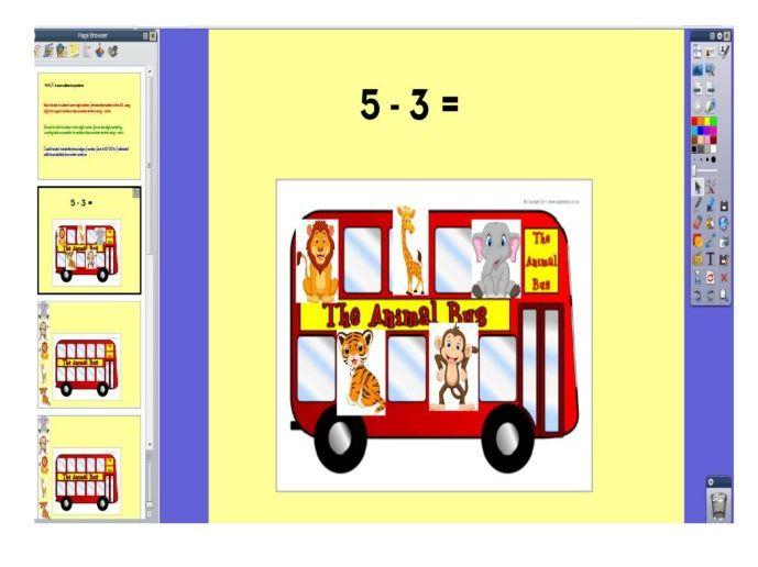 Subtraction Bus Flipchat