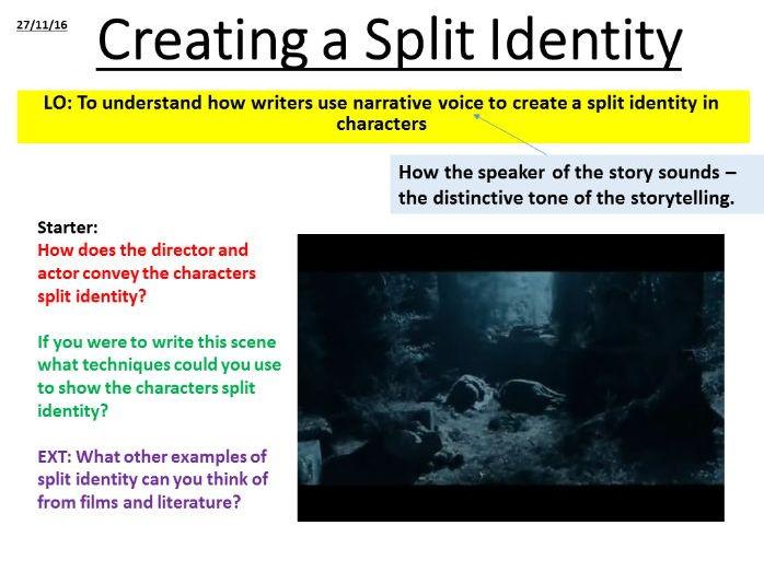 Creative Writing - Alter Ego Scheme of Work