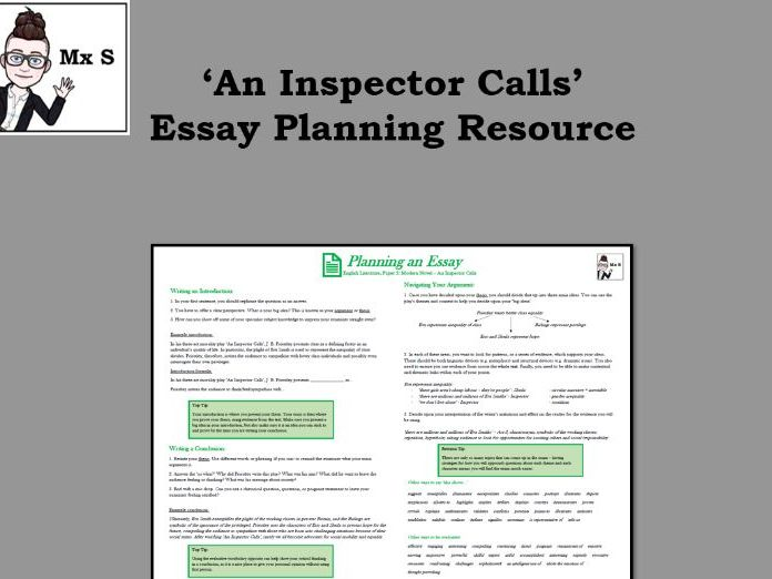An Inspector Calls - Essay Planning Knowledge Organiser