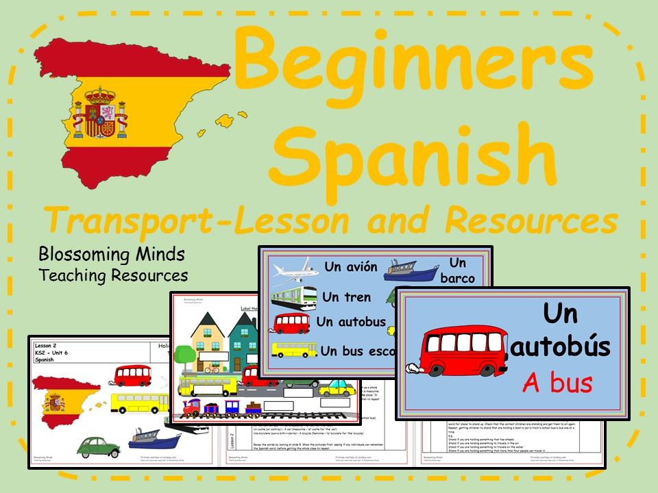 Spanish Lesson and Resources - KS2 - Transport