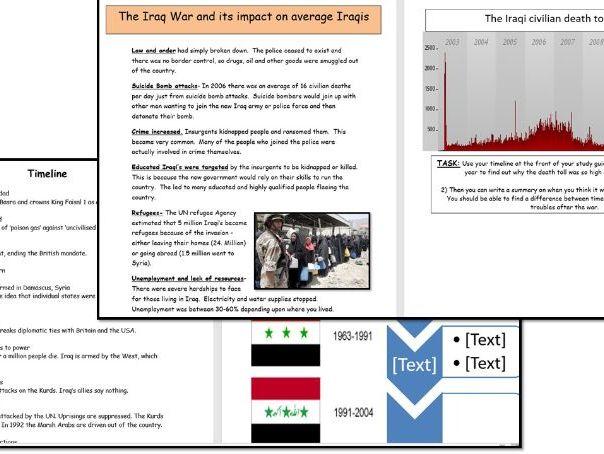 Iraq War Study guide- Old OCR Spec