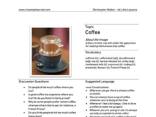 Coffee - A Little English Lesson