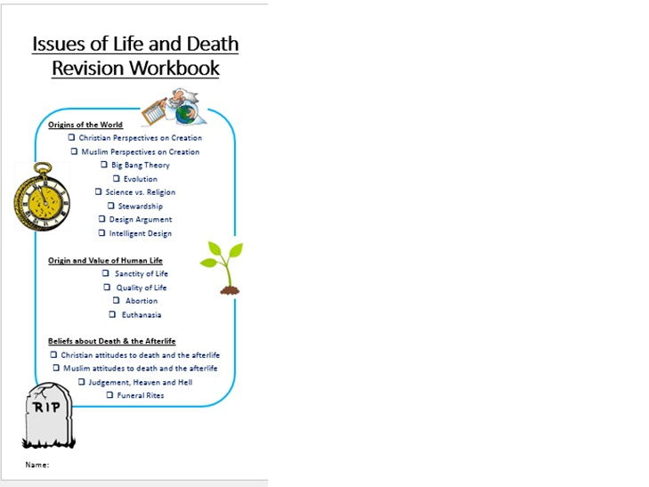 WJEC/Eduqas RS GCSE Life and Death Workbook