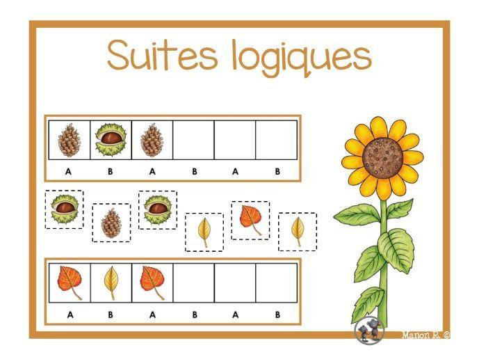 Suites logiques (automne)  Autumn Patterns
