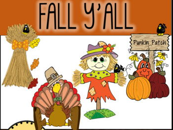 Fall Y'All, Fall and Autumn Clip Art