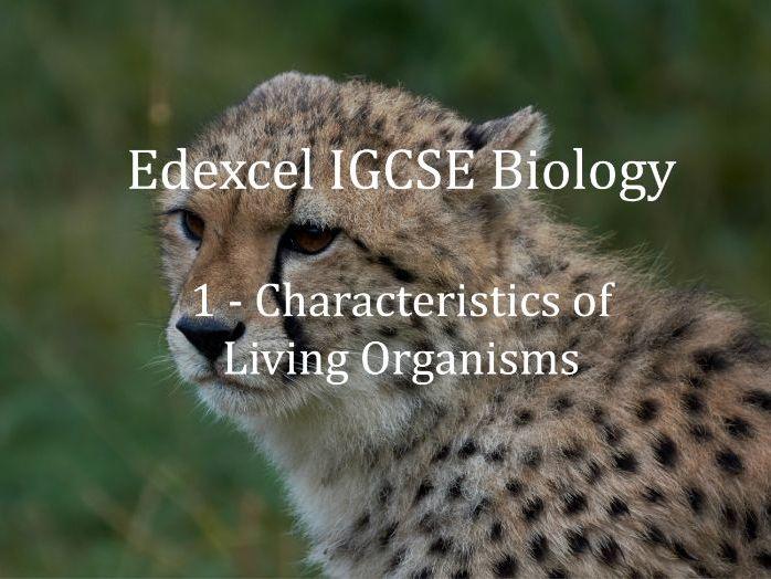 Edexcel IGCSE Biology Lecture 1 - Characteristics of Living Organisms