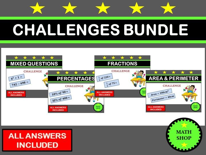 Maths Challenges Bundle