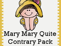 EYFS / Year 1 Writing: Traditional Rhymes - Mary, Mary Quite Contrary (Week 1 out of 2)