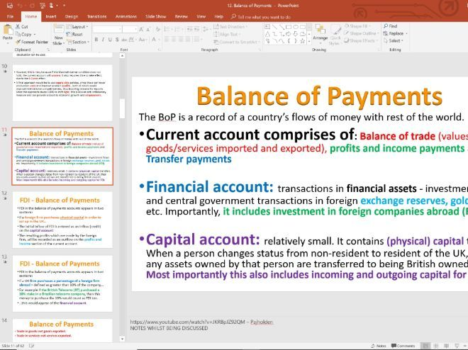 12. Balance of Payments (Slides, Activities and Notes) - Edexcel A-Level Economics - Theme 4