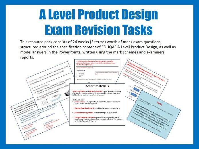 A Level Product Design Revision Tasks
