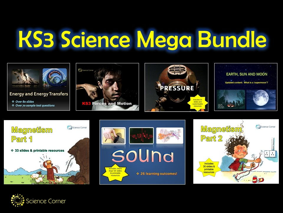 KS3 Science Mega Bundle - Energy, Forces, Magnetism, Sound, Pressure, Earth, Sun and Moon