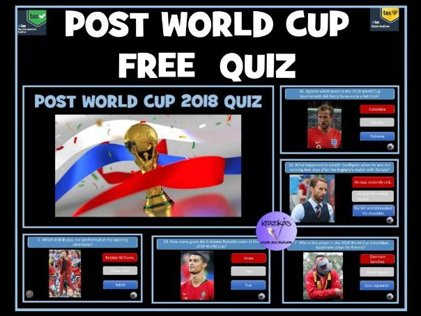 Post Football World Cup 2018: Free PowerPoint Quiz