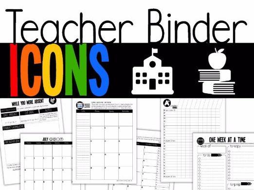 Icons Teacher Binder