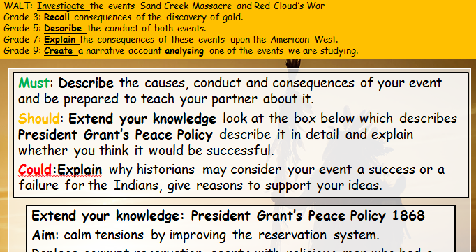 American West (Edexcel history 9-1) Sand Creek Massacre and Red Cloud's War