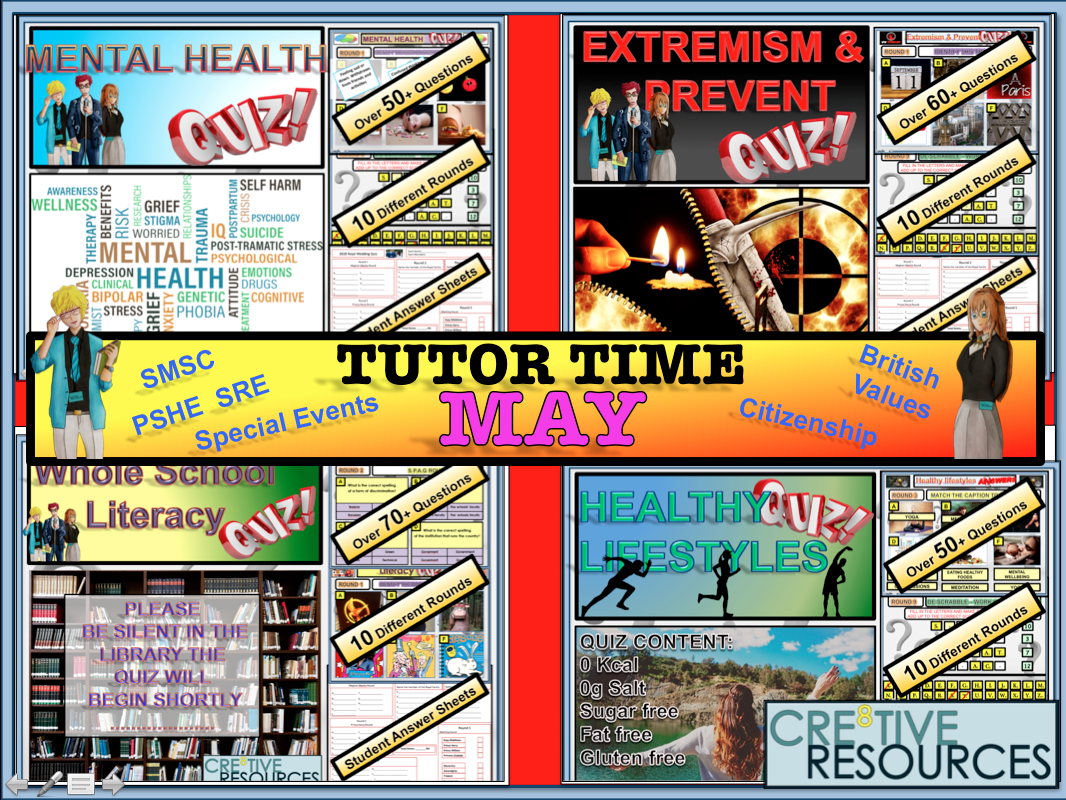 Tutor time activities -May
