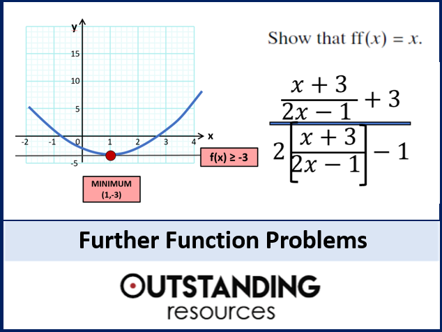 Functions 5 - Further Function Problems (+ worksheet)