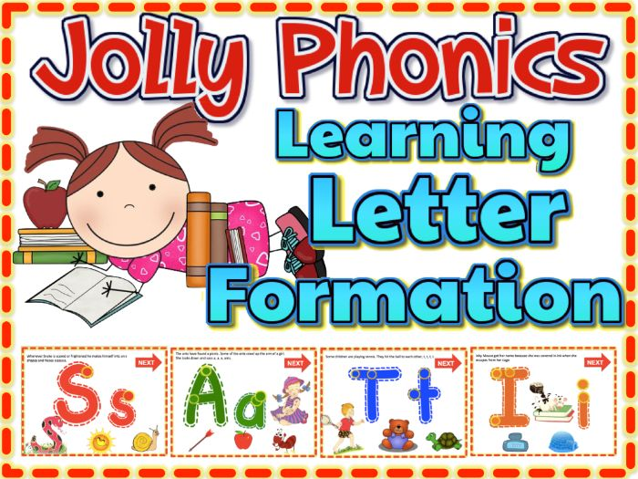 Jolly Phonics Learning Letter Formation Animated PPT w/ Sound Effects