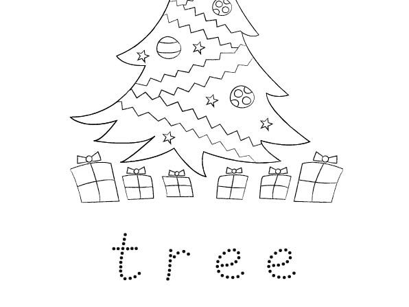 Free Christmas Colouring and Word Trace Activity for Early Years